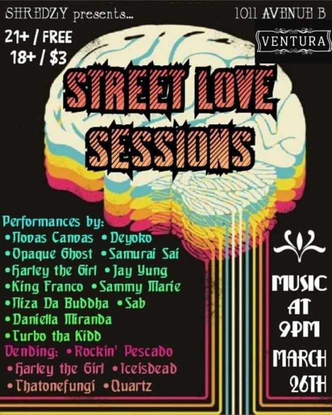 STREET LOVE SESSIONS FLYER/JOSHUA GARCIA