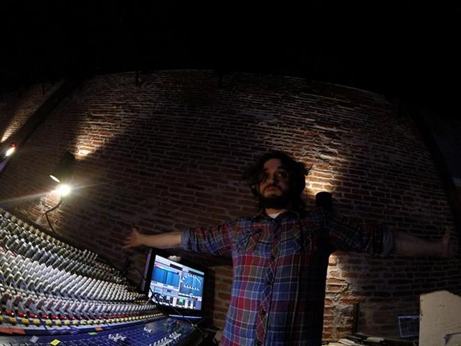 Deric Wynne on the soundboard at 502 - FACEBOOK, DERIC WYNNE