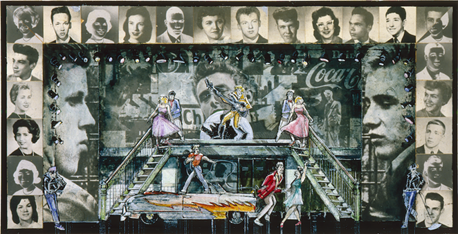 DOUGLAS SCHMIDT, SCENE DESIGN FOR GREASE, 1972