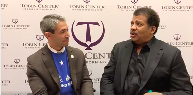 Find someone that looks at you like Ron looks at Neil deGrasse Tyson. - MAYOR RON NIRENBERG / FACEBOOK