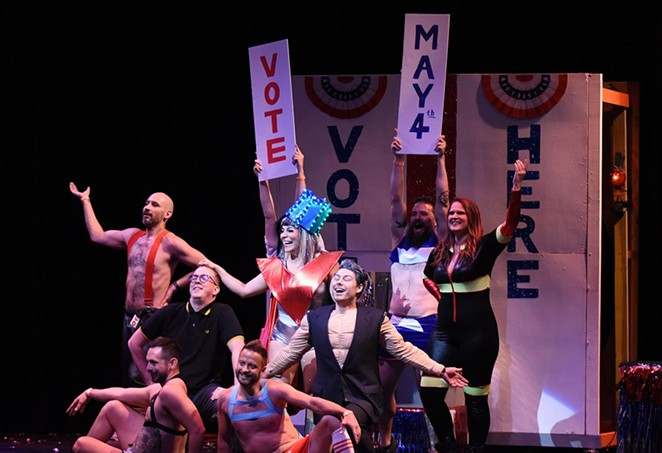 A skit at this year's Cornyation urges audiences members to vote May 4. - JACK MYER
