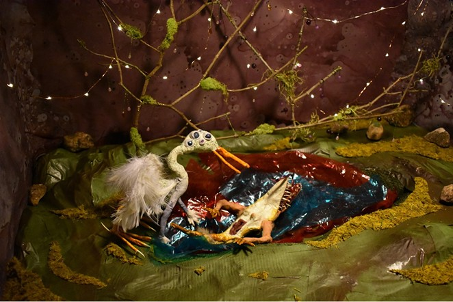 SARAH FOX, STRANGE BIRD AND GATOR MEET (DETAIL)