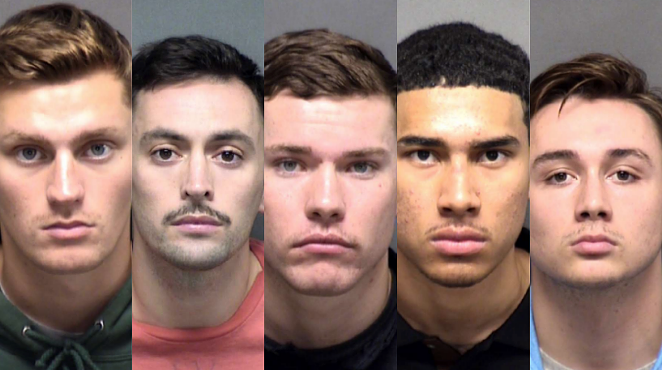 (L-R) Dominick Burns, Mauricio Chaparro, Anthony Cooney, Kenneth Johnson, Kyle Tuschmann - BEXAR COUNTY SHERIFF'S OFFICE