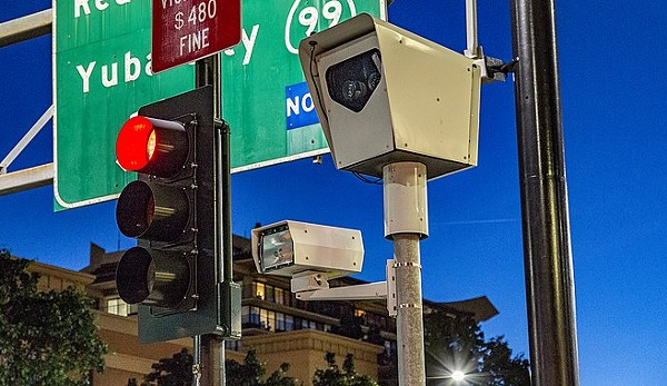 A new Texas law bans red light cameras such as this one. - TONY WEBSTER / WIKIMEDIA COMMONS