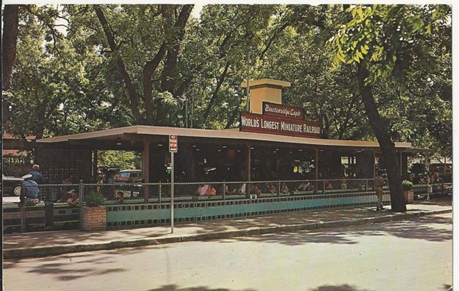 Brackenridge Eagle - The Eagle wasn't the OG miniature train in Brackenridge Park, but it has been running continuously in the park since the 1970s. Think of all the notable people who may have taken a ride on it since then. - VINTAGE SAN ANTONIO