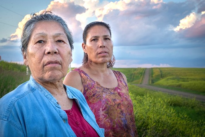 Madonna Thunder Hawk and her daughter, Marcella Gilbert. - WARRIORWOMENFILM.COM