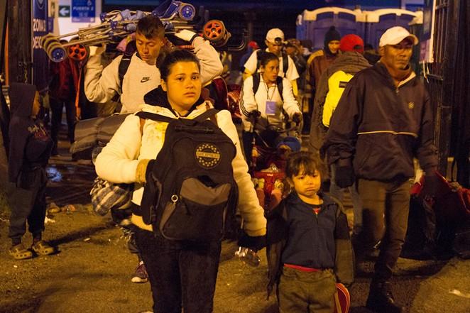Central American migrants make their way through Mexico to seek asylum at the U.S. border. - ALEXEI WOOD