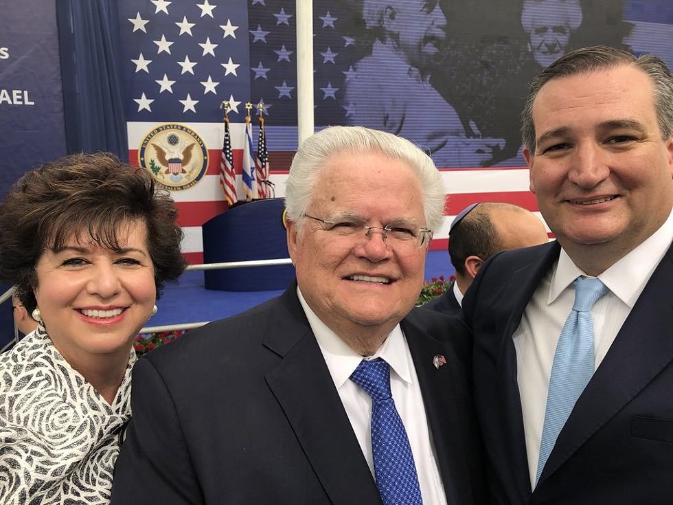 Hagee poses with Republican Sen. Ted Cruz of Texas. - TWITTER / @TEDCRUZ