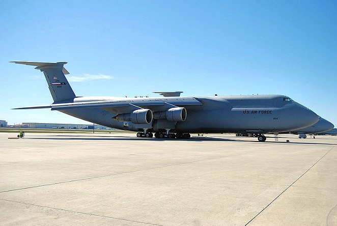Kelly Air Force Base used industrial chemicals during its work on aircraft such as the C-5. - U.S. AIR FORCE / WIKIMEDIA COMMONS