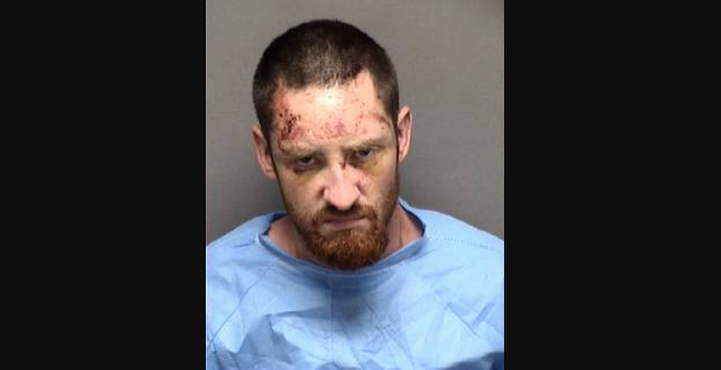 David Eifert in his mugshot following the pursuit - BEXAR COUNTY JAIL