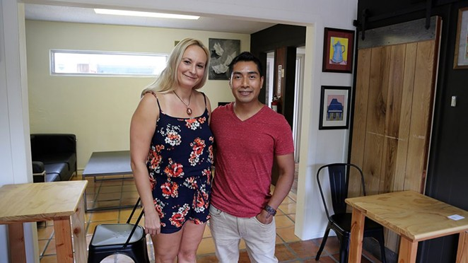 Laura and Rudy Lopez are opening Kapej, a coffee shop/art gallery, at 415 Camden St. - BEN OLIVO / HERON