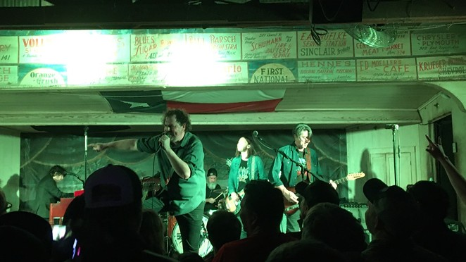 Drive-By Truckers light it up at Gruene Hall. - MIKE MCMAHAN