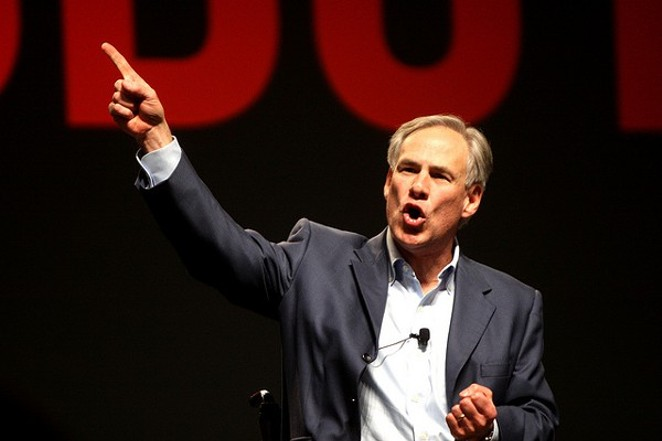 Governor Greg Abbott shows off his Twitter finger. - VIA FLICKR USER GAGE SKIDMORE