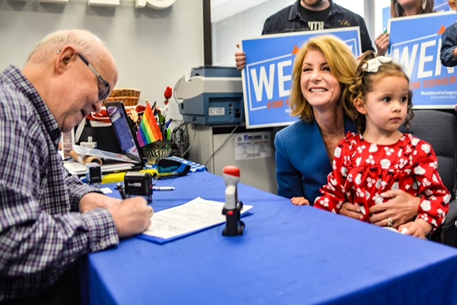 Wendy Davis completes paperwork Wednesday making her congressional bid official. - COURTESY PHOTO / WENDY DAVIS