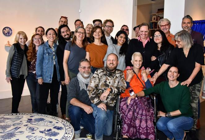 A group photo taken with Katie Pell at Ruiz-Healy Art - PHOTO BY ANGELA MARTINEZ VIA FACEBOOK / RUIZ-HEALY ART