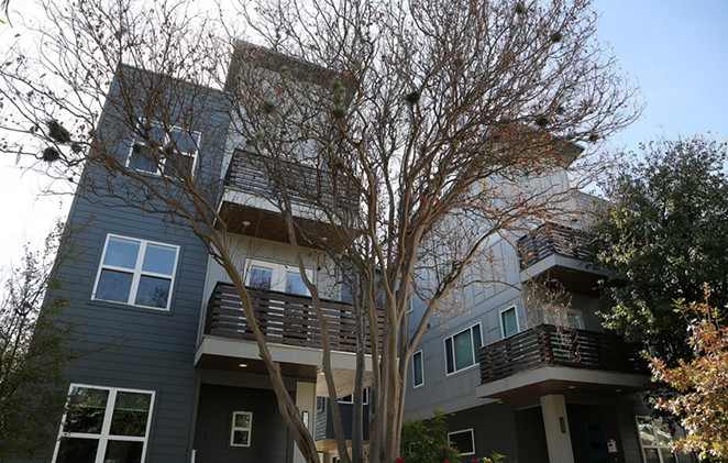 Single-family developments like this one on West Craig Place in Beacon Hill will now be regulated to 35 feet or 2.5 stories. - BEN OLIVO / SAN ANTONIO HERON