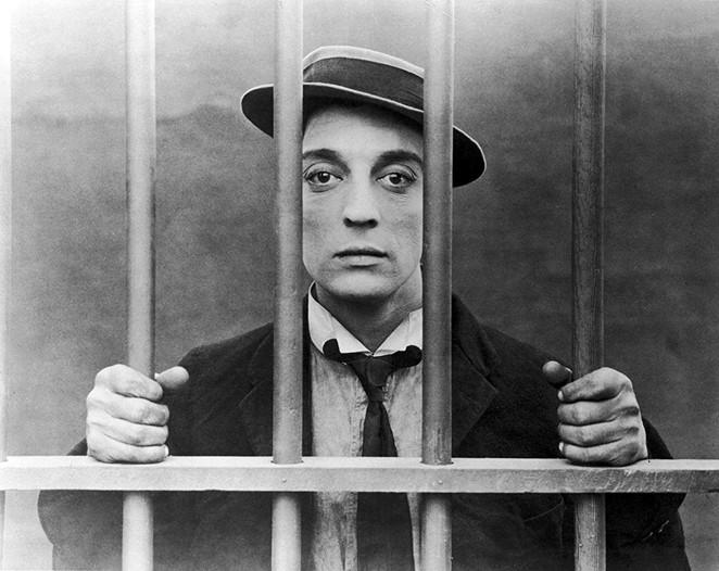 Buster Keaton in Cops - PUBLIC DOMAIN