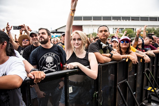 Fans take in a River City Rockfest at the AT&T Center grounds. - JAIME MONZON