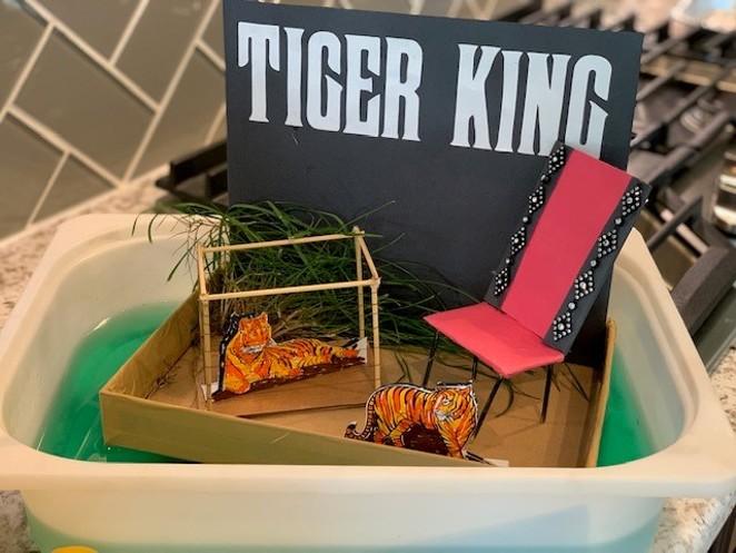 A parade float sample themed on viral Netflix docuseries Tiger King - COURTESY OF SAN ANTONIO RIVER WALK ASSOCIATION