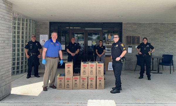 Jason's Deli delivers lunch to the San Antonio Police Department's South Substation. - COURTESY / THE SHOPS AT ALAMO RANCH