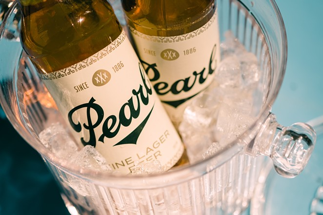 Pearl xXx's new design is inspired by the original characteristics of the brand, including the clamshell shape and script. - COURTESY JOE MONDO CRUZ
