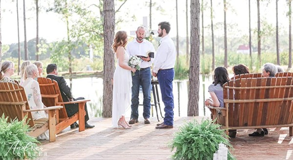 Texans are turning to micro-ceremonies of 10 or less guests during the COVID pandemic. - COURTESY FLOUR AND BLOOM EVENTS