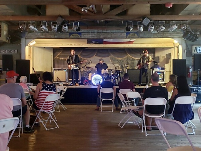The Powell Brothers perform at a reconfigured Gruene Hall. - COURTESY OF THE POWELL BROTHERS