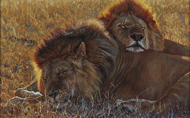 """""""Partners,"""" 2007. John Banovich. Oil on Belgian linen. 32"""" x 50"""". Collection of the James Museum of Western and Wildlife Art. - COURTESY OF WITTE MUSEUM"""