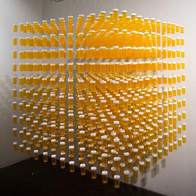 "A ""floating"" sculpture by Nicki Lucio - COURTESY OF NICKI LUCIO"