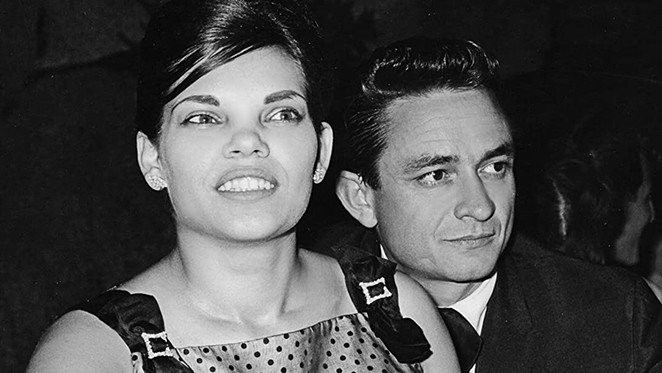 Vivian Liberto (left) met Johnny Cash in San Antonio when the singer was a trainee at Lackland AFB. - THE FILM COLLABORATIVE