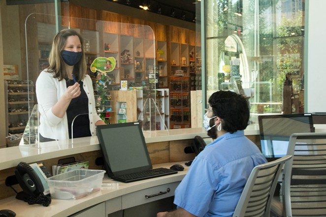 The Witte provided masks to patrons as a coronavirus safety measure. - TWITTER / WITTEMUSEUM