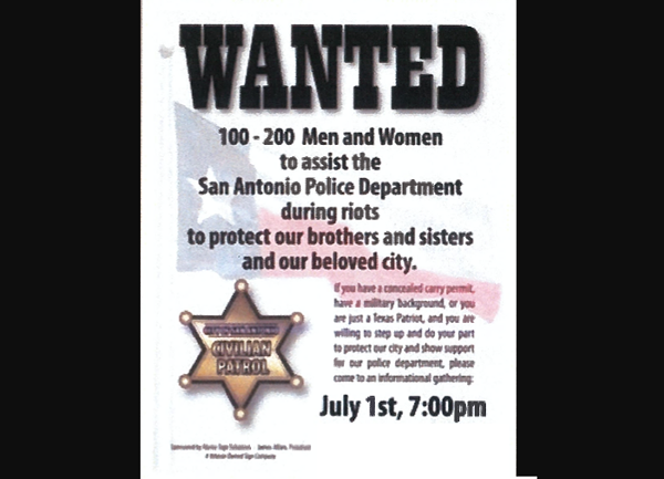 Alamo Sign Solutions owner James Alfaro is accused of circulating this recruitment poster. The phone number and address have been removed from this image. - CITY OF SAN ANTONIO