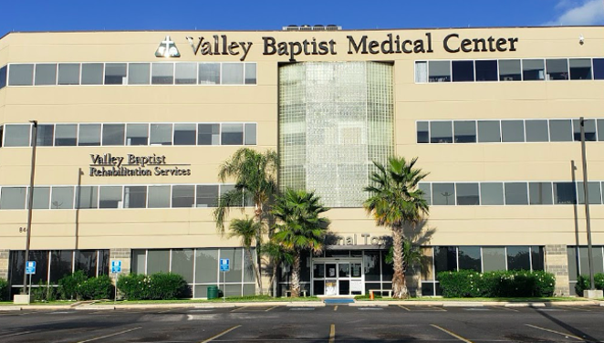 Valley Baptiist Health System said its hospital in Brownsville is above100% capacity. - GOOGLE STREET VIEW