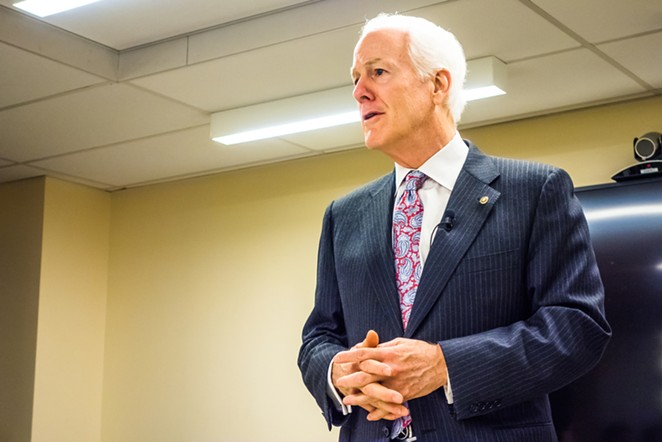 Republican Sen. John Cornyn was a featured speaker at the Texas Public Policy Foundation's anti-Green New Deal forum. - SHUTTERSTOCK