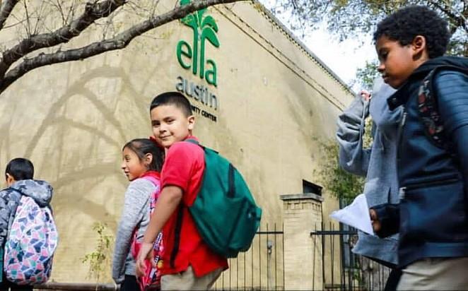 Children enter the Ella Austin Community Center in a photo taken prior to the pandemic. - FACEBOOK / ELLA AUSTIN COMMUNITY CENTER