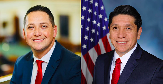 Republican candidates Tony Gonzales (left) and Raul Reyes Jr. - TWITTER / @TONYGONZALES4TX FOLLOW (LEFT) AND TWITTER / @RAUL4CONGRESS