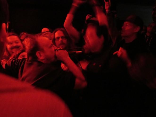David Yow of Flipper performs at San Antonio's Paper Tiger. - SANFORD NOWLIN