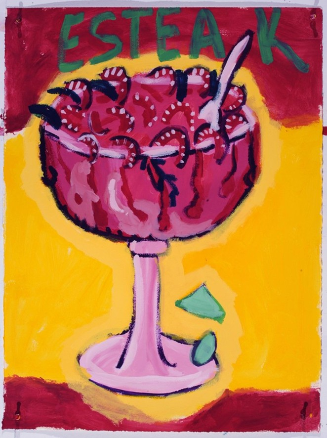 Victoria Suescum, Esteak, 2014. Matte acrylic on paper. Collection of the McNay Art Museum. - COURTESY OF THE MCNAY ART MUSEUM