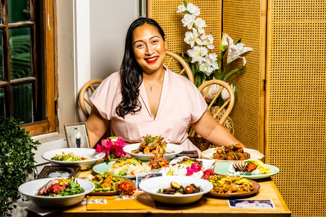 Golden Wat Noodle House is Susan Sypesteyn's love story to the psychedelic rock of 1960s Cambodia, vintage embroidered textiles and the special heritage of Khmer culture and cuisine. - COURTESY GOLDEN WAT NOODLE HOUSE