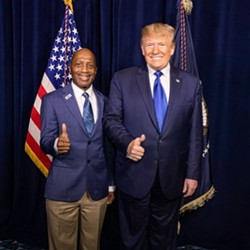 """State Rep. James White, R-Hillister, said he feels the media holds Trump to a """"different standard"""" on race issues. - TWITTER / @JAMES_E_WHITE"""