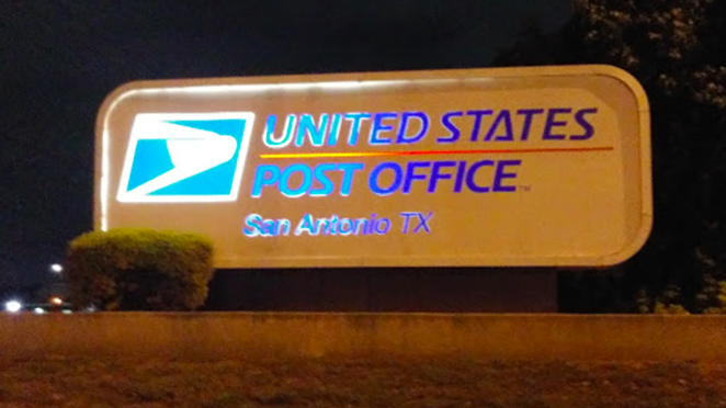 The sign at the U.S. Postal Service's Perrin Beiltel Road distribution center. - GOOGLE MAPS