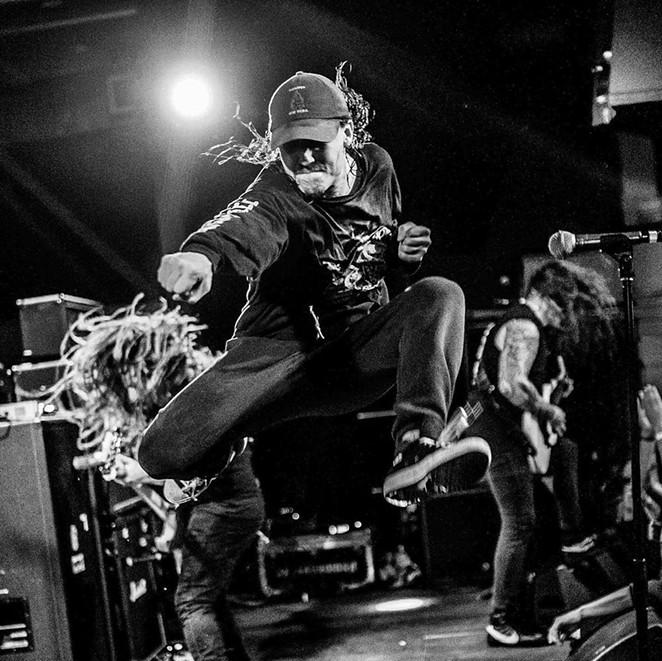 Riley Gale of Power Trip was known as an energetic live performer. - INSTAGRAM / @POWERTRIPTX
