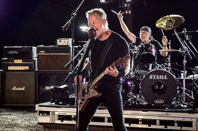 Metallica's James Hetfield growls it out during the band's performance that was broadcast to drive-in screens. - INSTAGRAM / @METALLICA