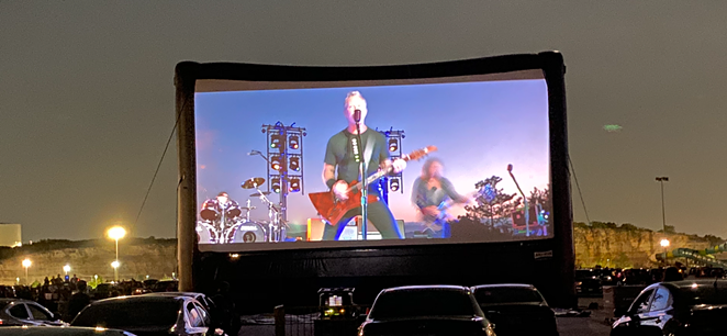 Metallica's San Antonio drive-in concert was missing several songs and the set by its opening act. - MIKE MCMAHAN