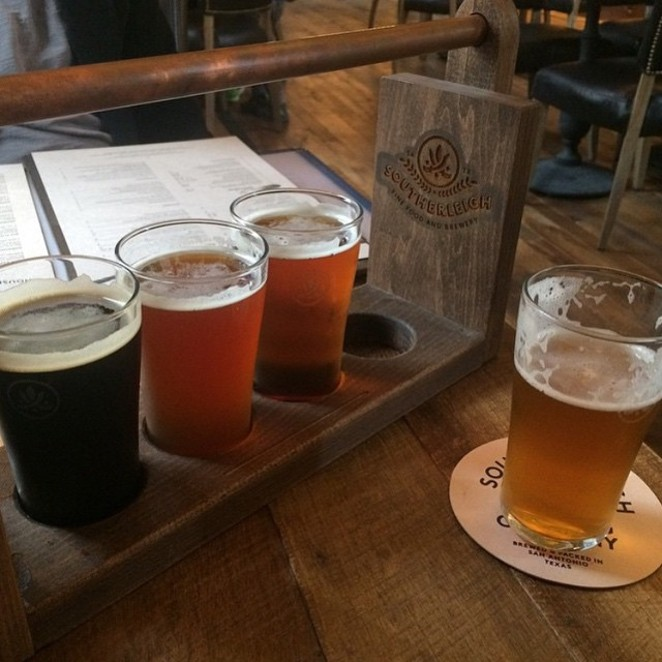 Not only are you treating your dad to dinner, but also gifting him a beer glass. - SOUTHERLEIGH FINE FOOD & BREWERY