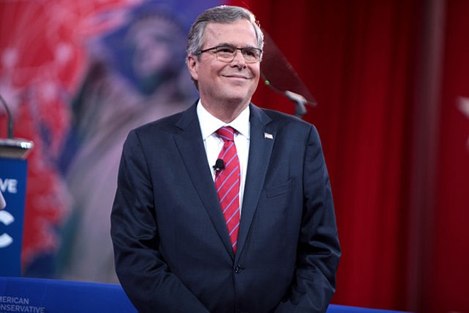 Former Florida Governor Jeb Bush will fundraise in Texas later this month for his presidential run. - VIA WIKIMEDIA COMMONS USER GAGE SKIDMORE