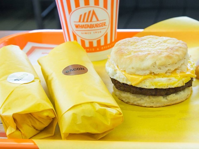 We're not yolk-ing around — breakfast is back. - WHATABURGER/FACEBOOK