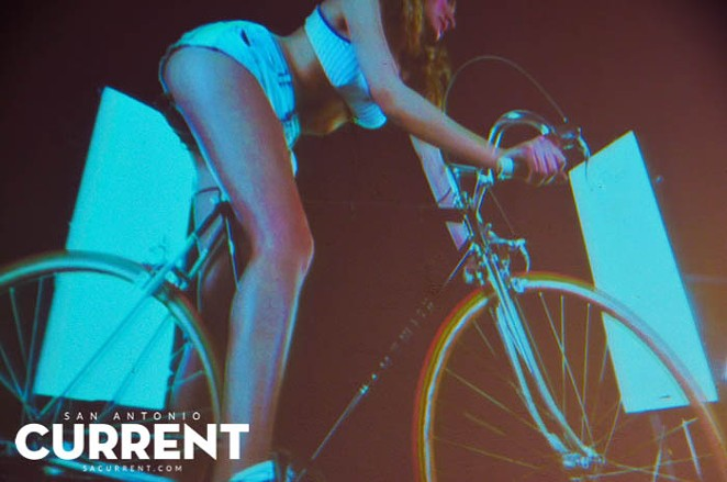 """Shot from a artistic film that screen during K23 Gallery's """"Riding Dirty: An Erotic Bicycle Multimedia Event"""" - ALBERT SALAZAR"""
