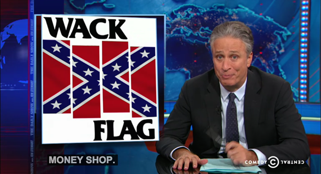 Jon Stewart showing off his punk cred - COMEDY CENTRAL