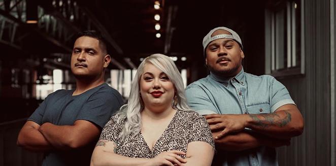 The  the crew behind ¡Bucho!: Jerry Moreno, Sohayla Hendrix, and Gino Vidal. - INSTAGRAM / BUCHOSATX